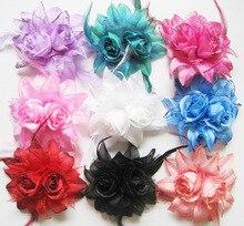 Fashion Hair Accessories hair rope Women girl brooches Double flower hair bands