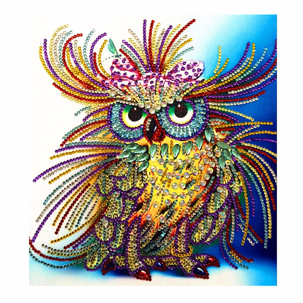 Owl 5D DIY Special Diamond Painting Embroidery Drill Needlework Cross Craft Stitch Kit Home Decor Christmas