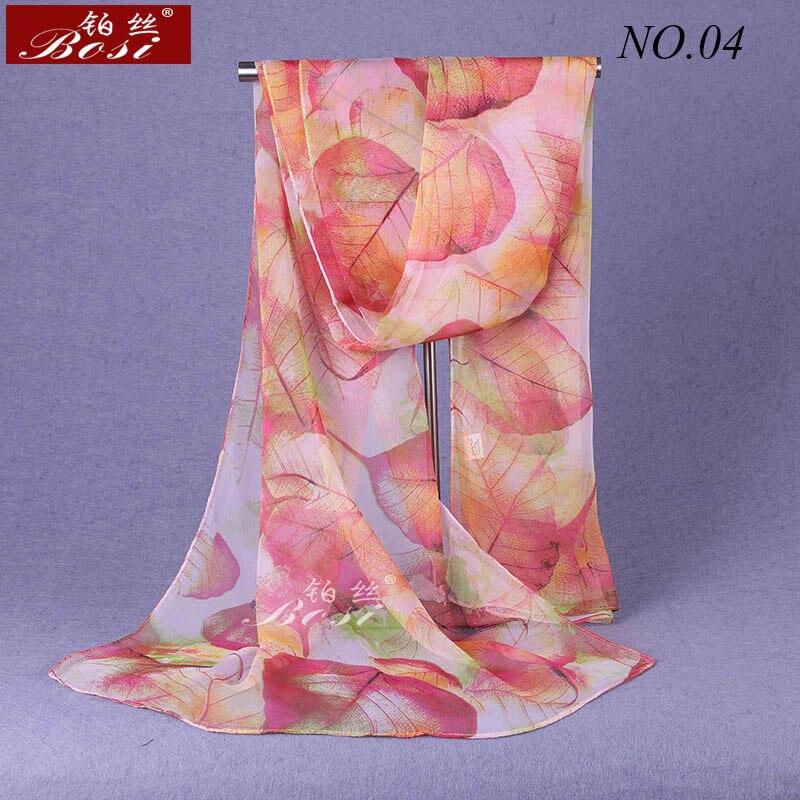 100% silk   Scarf   print leaf Shawls for women   wraps   bandana ladies Fashion   wrap   Floral scarfs Hijab cape female stoles muslim   wrap