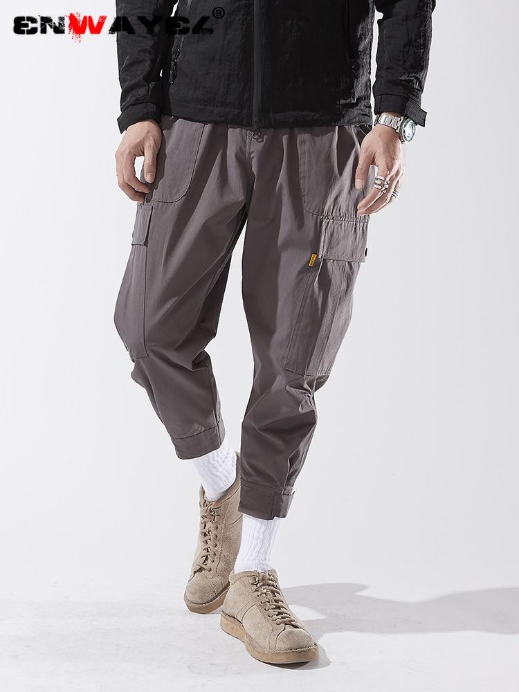 Enwayel Marke 2019 Frühling Fashion Street Hip Hop Hosen Für Männer Lose Taschen Cargo Hosen Beiläufige Elastische Taille Neue Ankunft Jungen Kleidung