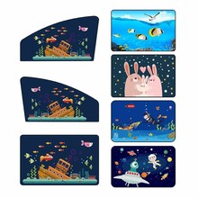 New 1PC Universal Magnetic Car Sun Shade Cover Curtain Suction Cup Cartoon Proof Side Window Sunshade Cover For Baby Kids
