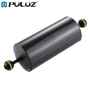 Image 1 - PULUZ כדור צף 10.8 inch 27.5 cm אורך 80mm קוטר כפול כדורי פחמן סיבי צף זרוע, כדור קוטר: 2.5 cm