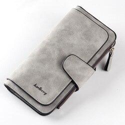 Женский кожаный кошелек с застежкой, Длинный кошелек с отделением для карт, 6 видов цветов, 2019