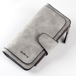 Новинка 2019, брендовый кожаный женский кошелек, высокое качество, дизайн, на застежке, сумки для карт, длинный женский кошелек, 6 цветов, женск...
