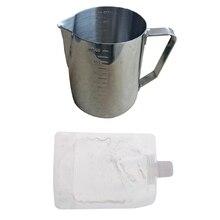"""Набор для изготовления свечей """"сделай сам"""", 1 шт. металлический кувшин с прочной ручкой+ 100 г прозрачный гель желе воск блистерная упаковка"""