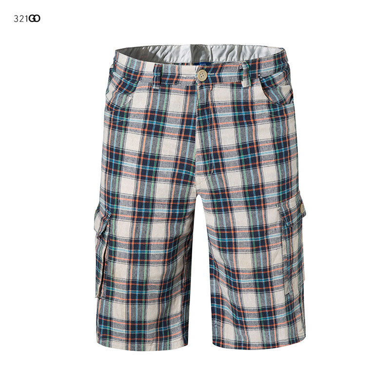 2019 New Europe Style Summer Swimsuit Print Plaid Board Shorts Men Cargo Shorts Plus Size 3XL Beach Shorts Swimming Trunks