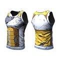 2016 Ball Z Dragon Ball Z Dos Homens 3D Camiseta Vegeta Goku amarelo Tops Tees Vestuário de Moda Estilo Verão Camisa 3D