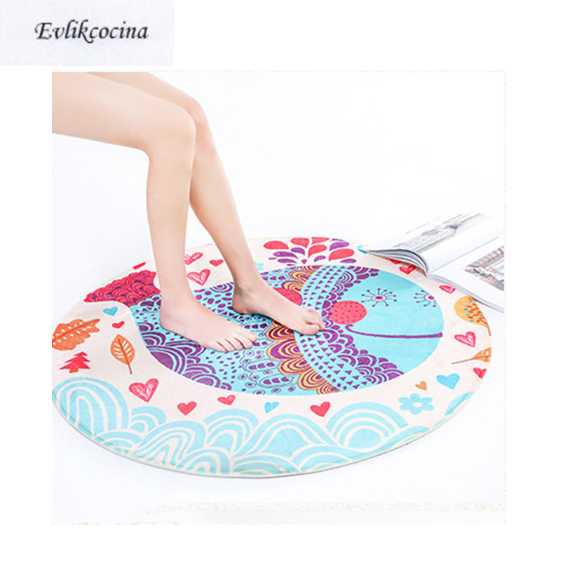 Free Shiping Blue Whale Round Carpet Kids Game Rug Non-Slip Baby Crawling Multifunctional Play Tapetes Para Casa Tapis Salon