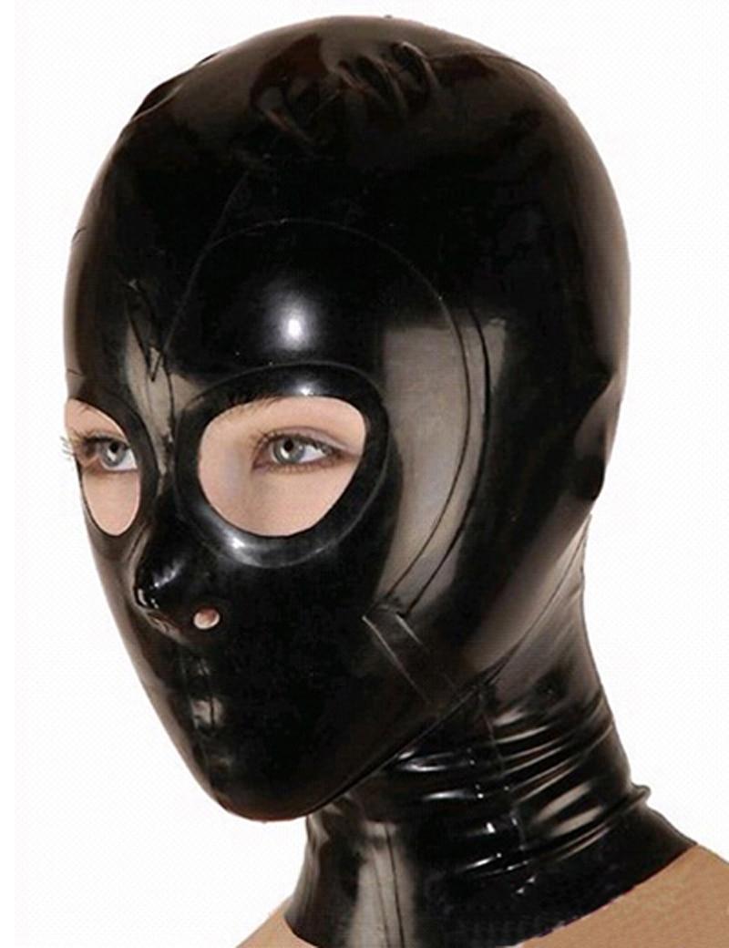 Unisex Latex Fashion Fetish Mask Hood With Open Eyes Plus -2704