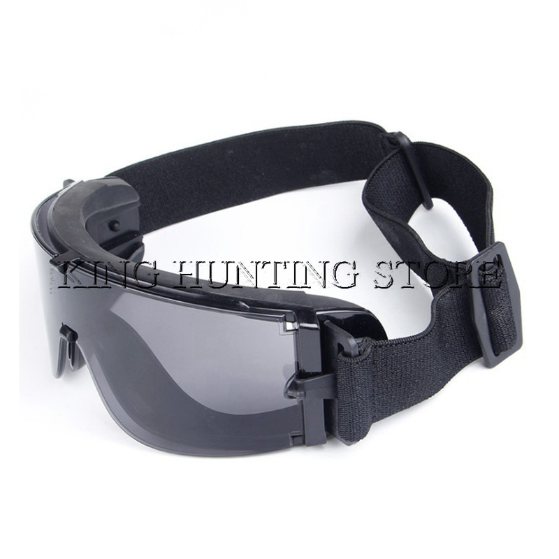 Military Gear Airsoft Shooting Safety Glasses Combat Army Sunglasses 3 Interchangeable Tactical Goggles Shooting Eyewear Gafas okulary wojskowe