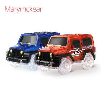 1 sztuk Noctilucent utwór samochód Mini samochód chłopców zabawki samochód wyścigowy z LED Light świecące w ciemności pojazdu wyścigi kolejowe w kolorze niebieskim czerwonym tanie i dobre opinie Marymckear Z tworzywa sztucznego 2-4 lat Inne Diecast PZWQA keep away from fire Mini Car noctilucent track car Car toy
