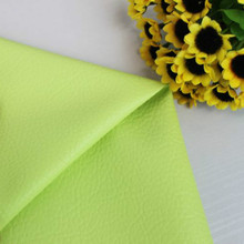 Light Green DIY Patchwork Synthetic PU Leather Fabric Material Solid Color Printed Various Size 140cm