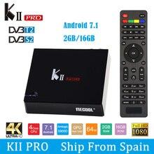 SATXTREM MECOOL KII Pro TV Box Android 7.1 DVB-S2 DVB-T2 S905D Quad-core 2GB 16GB Smart Tv Box 4K Dual WiFi BT4.0 Media Player