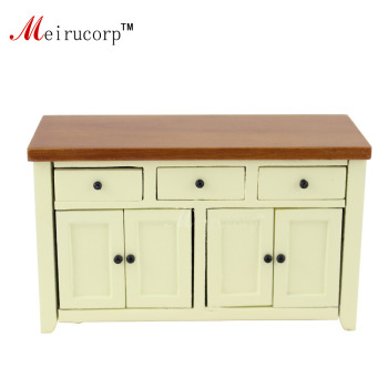 цена на 1/12 Scale Dollhouse Miniature Furniture Handcrafted Wooden Lovely Small Cabinet