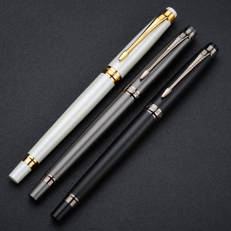 Luxury Hero H706 10k Gold Fountain Pen White Deep Grey Black 3 Colors for Choose High-end Gift Pens with an Original Gift Box yuneec typhoon h rtf black grey гексакоптер