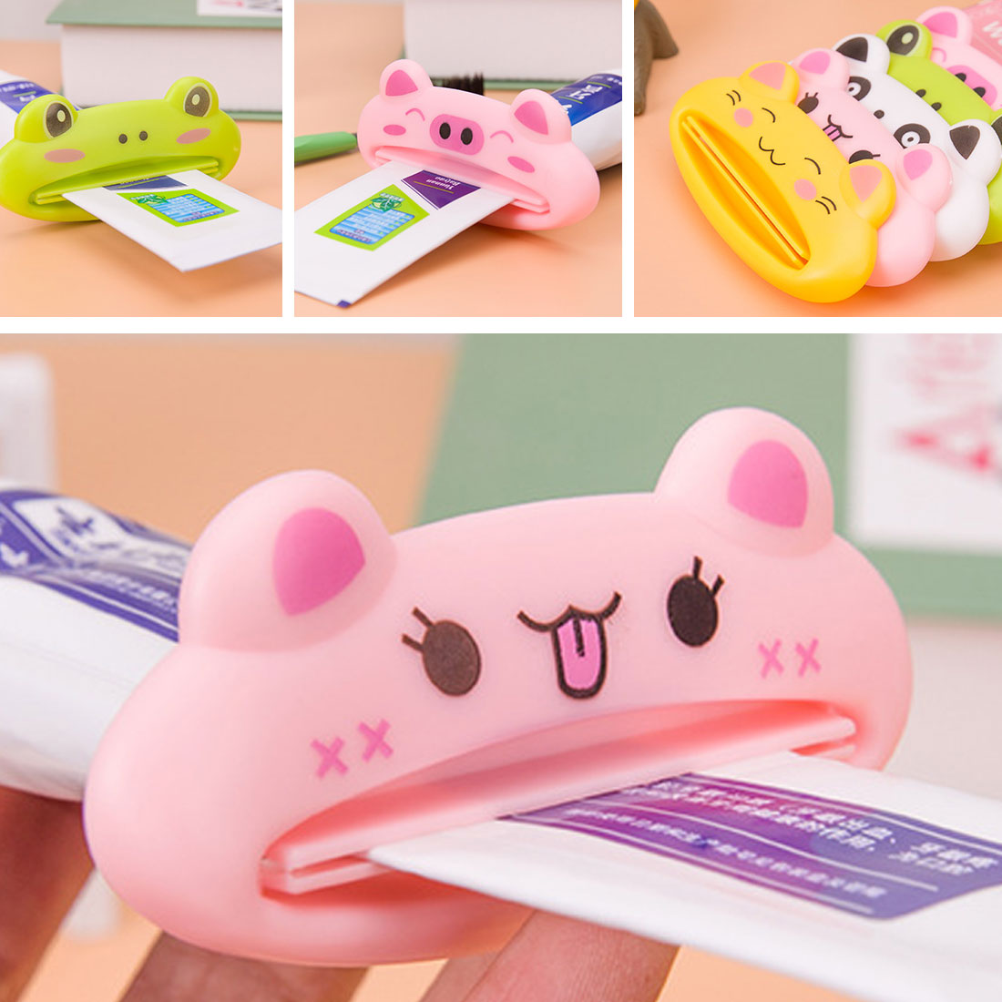 Toothpaste Dispenser Cute Cartoon Animal Multi function squeezer toothpaste squeezer Home Commodity Bathroom Products