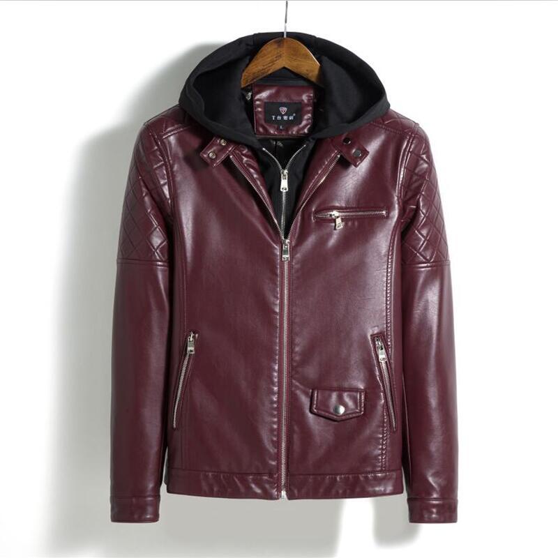 90e68459661 OEAID 2018 New Plus size M L XL XXL XXXL 4XL Leather Jacket Men Motorcycle Leather  Clothing Hooded Outerwear Male Jackets coats