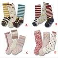 3 par/lote Infantil Niño del bebé calcetines antis del resbalón Resbalón-prueba de la rodilla Calcetín de algodón suave Para niños niñas niños infantil a estrenar