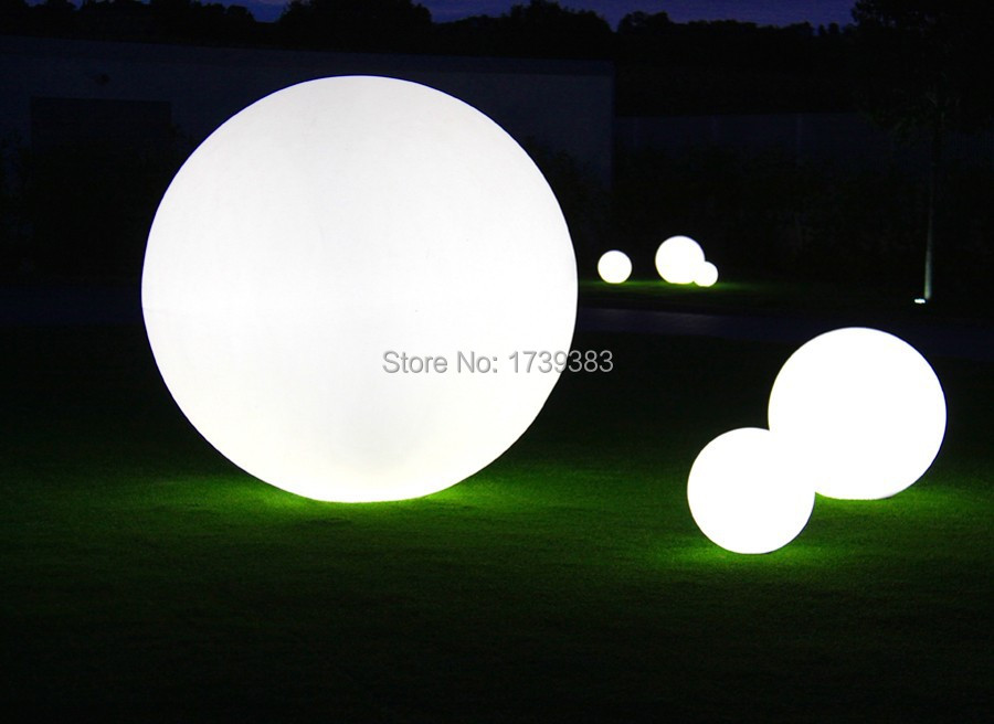 30cm 1pcslot waterproof wireless charging emitting led ball lamp diameter 50cm waterproof led ball glowing plastic furniture for indoor mozeypictures Gallery