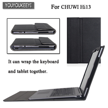 High-quality Original Business Folio stand cover case For CHUWI Hi13 13 inch Tablet While protecting the keyboard and table+gift