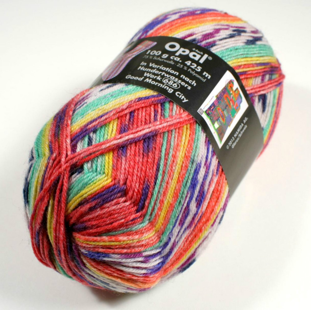 2Pieces / Lot , Opal Sock Yarn 75% wool, 25% polyamide ...