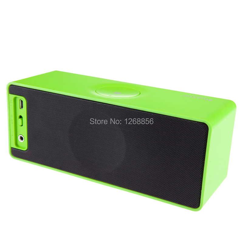2 pcs/lot, Jambox style mini HIFI portable bluetooth speaker wireless mp3 speakers free shipping,High quality Green color