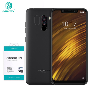 For Xiaomi POCOPHONE F1 Tempered Glass For Xiaomi POCO F1 Screen Protector Nillkin Amazing H&H+Pro Protective Film Nilkin Glass