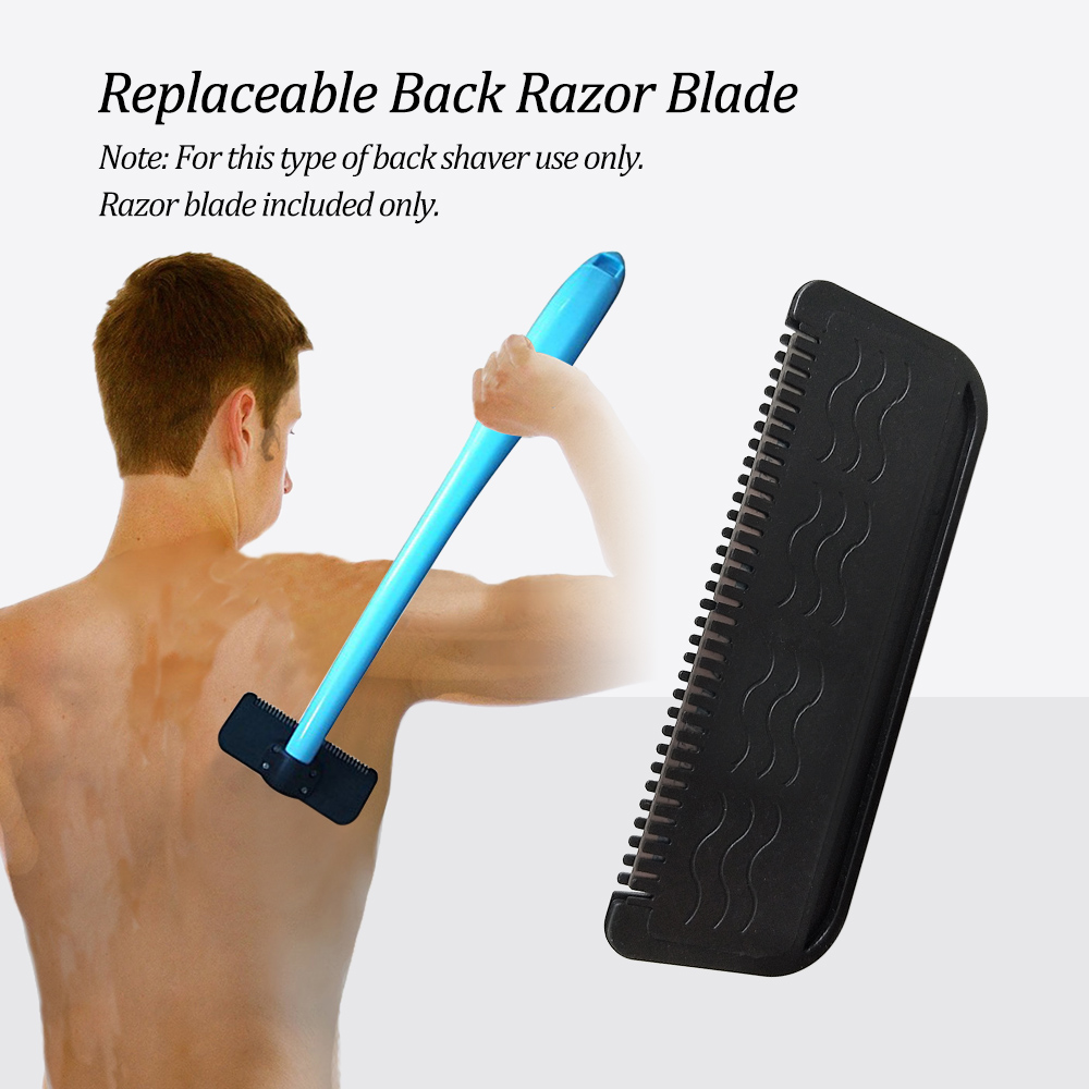 1pcs Replaceable <font><b>Back</b></font> <font><b>Hair</b></font> <font><b>Shaver</b></font> <font><b>Blade</b></font> <font><b>Blade</b></font> <font><b>for</b></font> <font><b>Long</b></font> <font><b>Handle</b></font> <font><b>Back</b></font> <font><b>Hair</b></font> <font><b>Shaver</b></font> <font><b>Back</b></font> <font><b>Hair</b></font> Razor <font><b>Blade</b></font> <font><b>Replacement</b></font>, Black Color