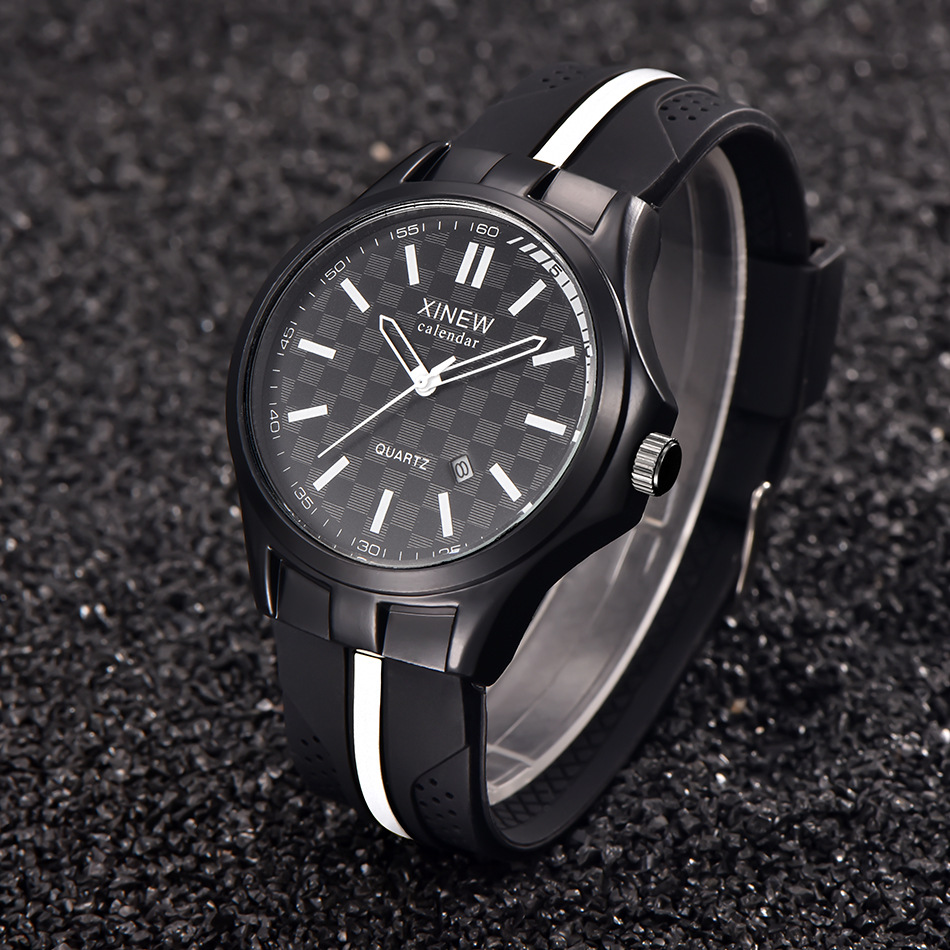 man watches 2016 brand luxury Xinew Silicone Dail Military Watch Men Fashion Casual Sports Quartz Watch