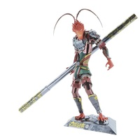 MU 3D Metal Puzzle Figure Toy Monkey King Hero mode Laser Cut Assemble Jigsaw Puzzle 3D Models Gift Toys For Children