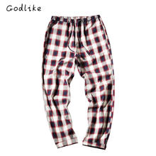 ФОТО godlike  2017 fall fashion home pants/men's casual trousers/plaid pants/south korean tartan slacks