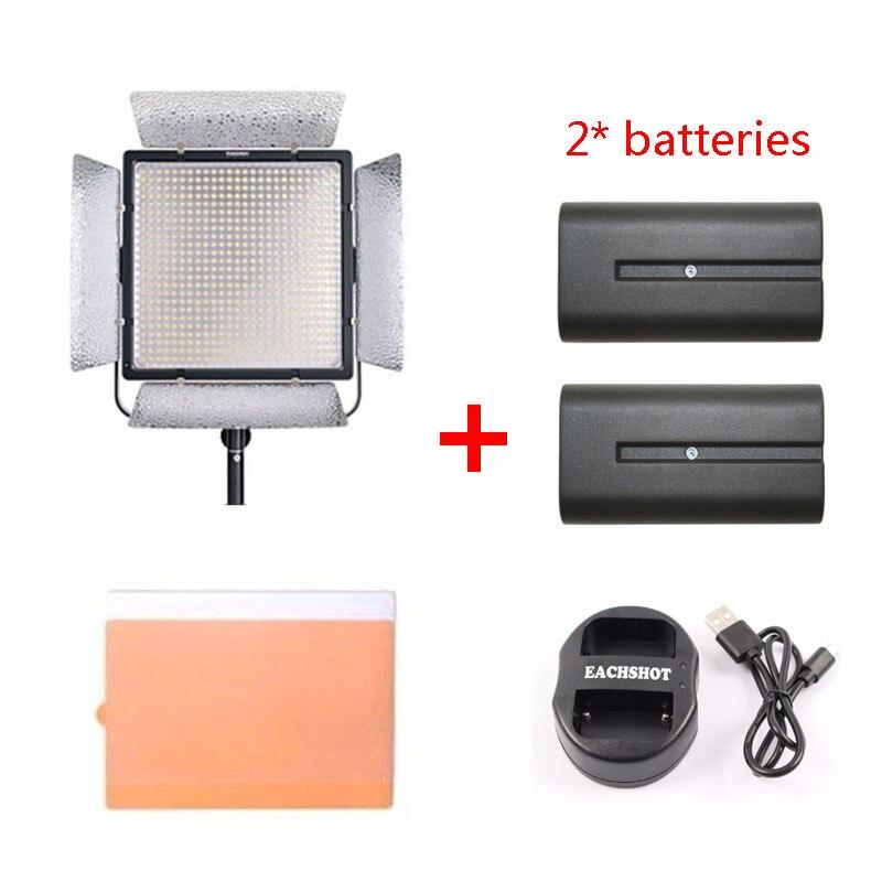 YONGNUO YN900 II 3200 K-5500 K lumière LED support en forme de U équipé de 360 degrés de lumière de remplissage pour la photographie professionnelle + Batteries