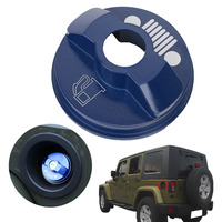 Blue Metal Fuel Tank Cap For Jeep Wrangler JK Unlimited X Sport Freedom Sahara 2 4Door