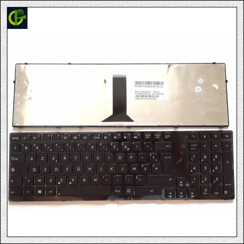 French Azerty Keyboard For ASUS A93 A93S A93SM A93SV A95 A95V A95VB A95VJ A95VM X93 X93S X93SM X93SV PRO91 FR