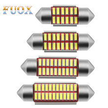 Festoon 31 Mm 36 Mm 39 Mm 42 Mm Bohlam LED C5W C10W Super Bright 4014 SMD CANBUS Kesalahan Gratis auto Interior Doom Lampu Mobil Styling Lampu(China)