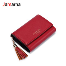 Jamarna Card Holder Tassel Slim Wallet Business Card Holder PU Mini Wallet Small Coin Purse Bank Card Holder Dropshipping(China)