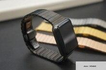 Nuevos hombres de acero inoxidable brazalete de eslabones de la correa correas de reloj de reemplazo para apple watch 38mm/42mm