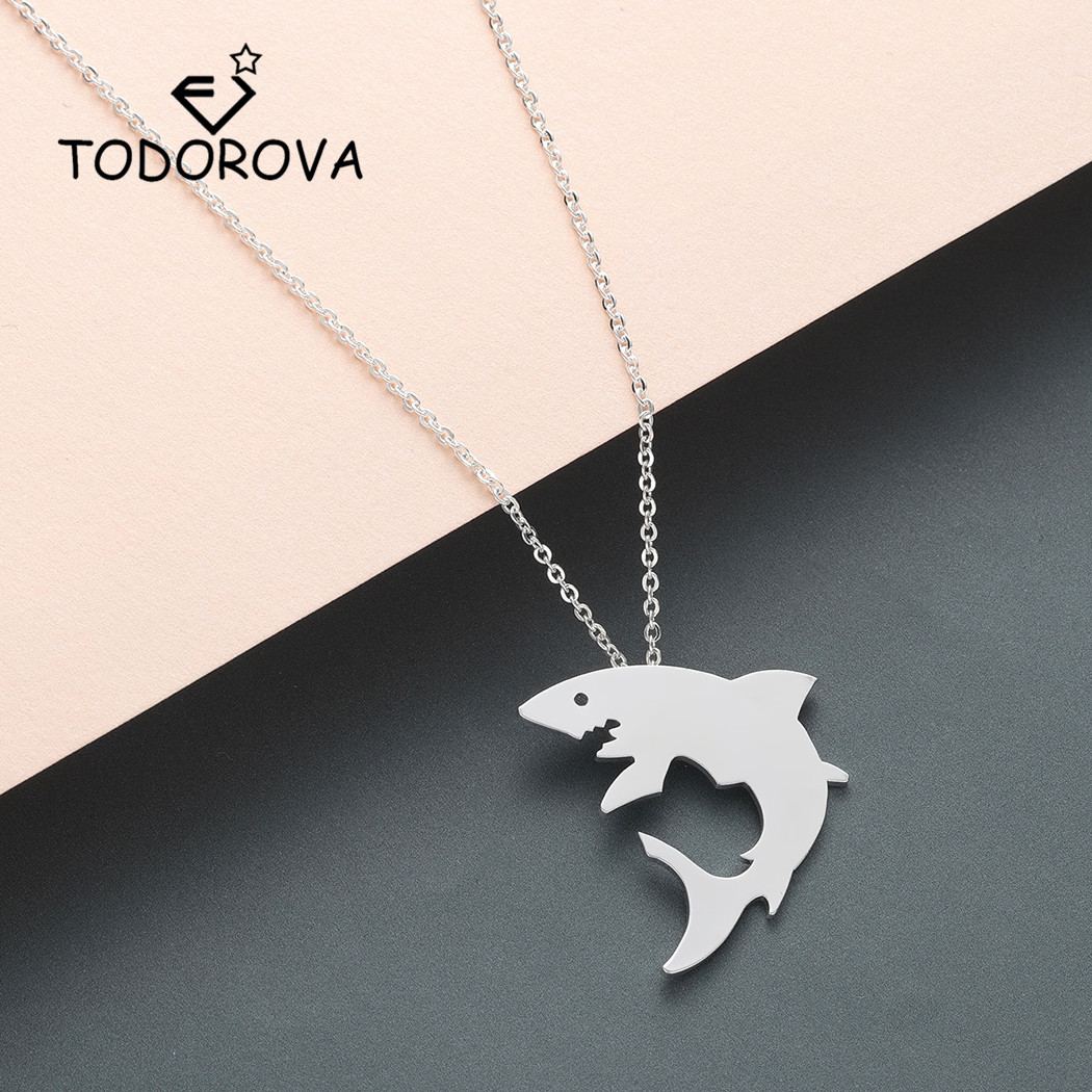 Charm Jewelry Ocean Sea NEW 925 Sterling Silver Great White Shark Necklace