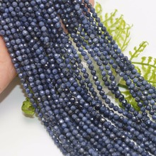 Natural Sapphire Faceted Round Beads 2mm,3mm