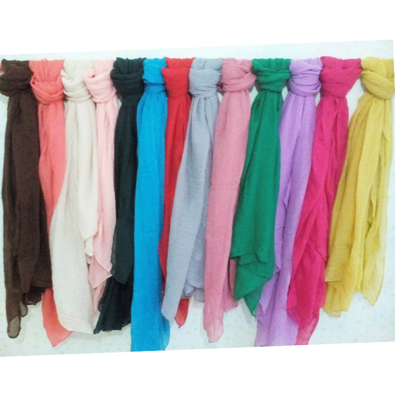Charming Winter Hottest Women Fashion Solid Cotton Voile Warm Soft Silk Scarf Shawl Cape Pretty And Colorful Apparel Accessories