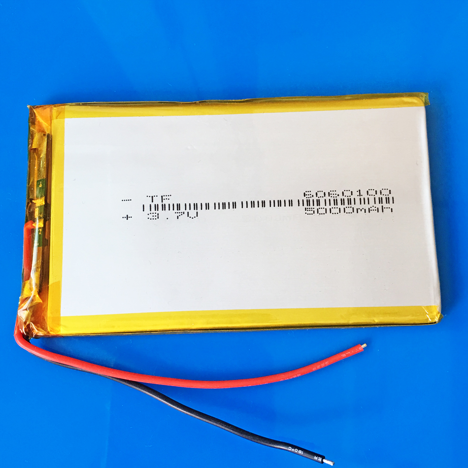 3.7V 5000mAh Polymer Lithium Li-Po Rechargeable Battery Li cells For GPS PSP DVD PAD E-book tablet pc laptop power bank <font><b>6060100</b></font> image
