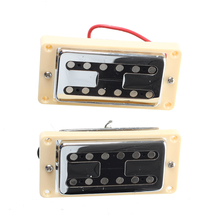 Chrome Neck And Bridge Humbucker Pickups w/ Cream Frame