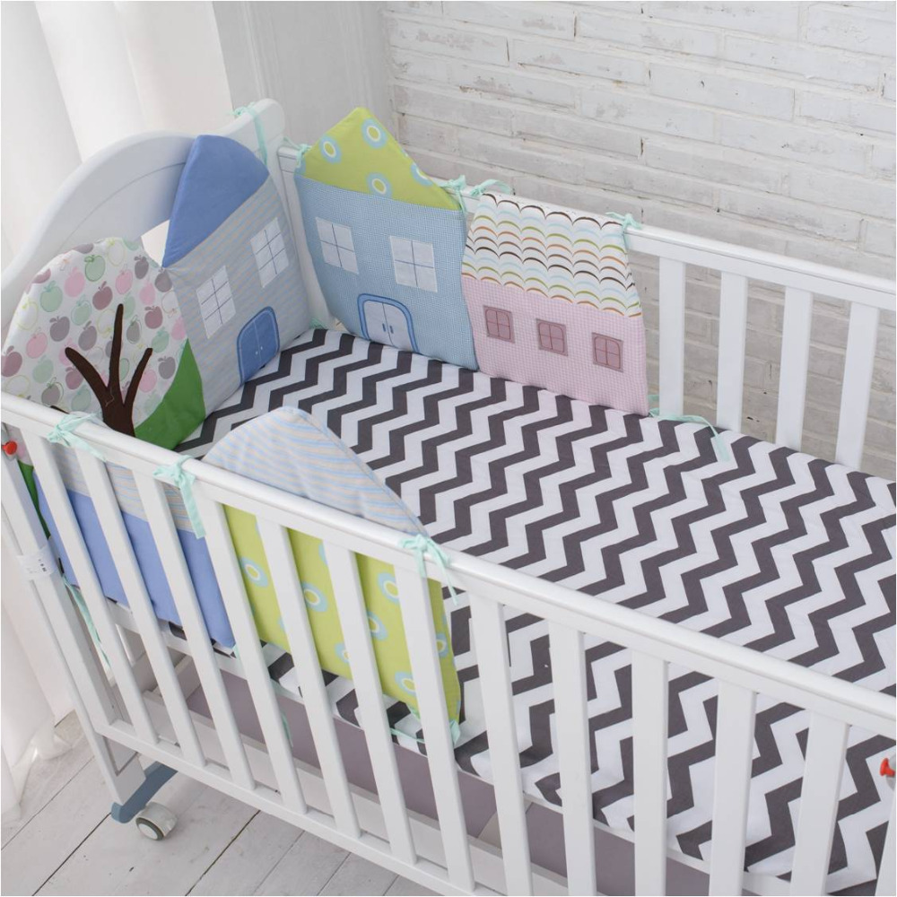 Muslin life High Quality Flexible Combination All kinds of Huts Bed Bumper Easy to Use Bumpers In The Crib Size 30*30 or 40*60cm ...