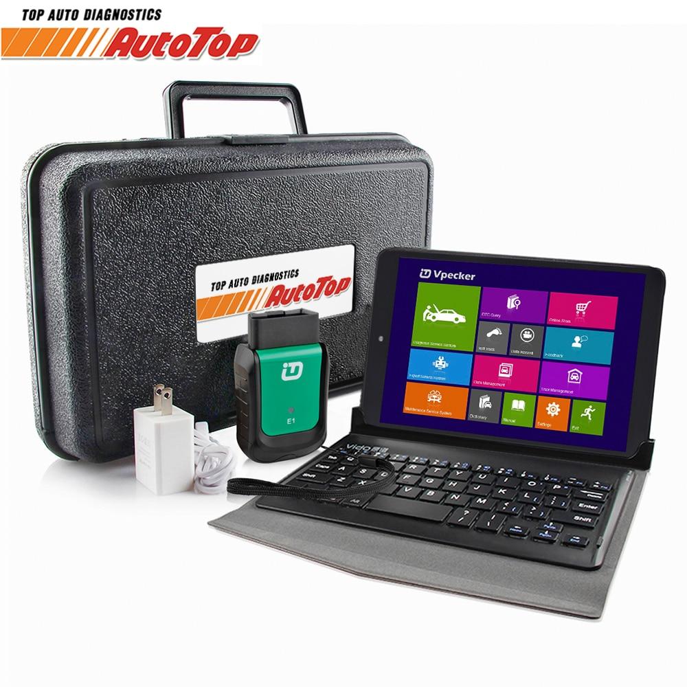 купить 2018 Vpecker Easydiag OBD2 Autoscanner V10.6 WIFI Automotive Scanner + 8 in Windows 10 Tablet ODB 2 OBD Car Diagnostic Scanner по цене 8338.59 рублей