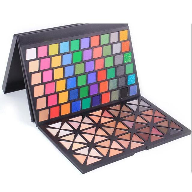 Professional 120 Cores Shimmer Glitter sombra de Olho Conjunto de Maquiagem Cosméticos À Prova D' Água Fosco sombra de Olho Paleta Y2