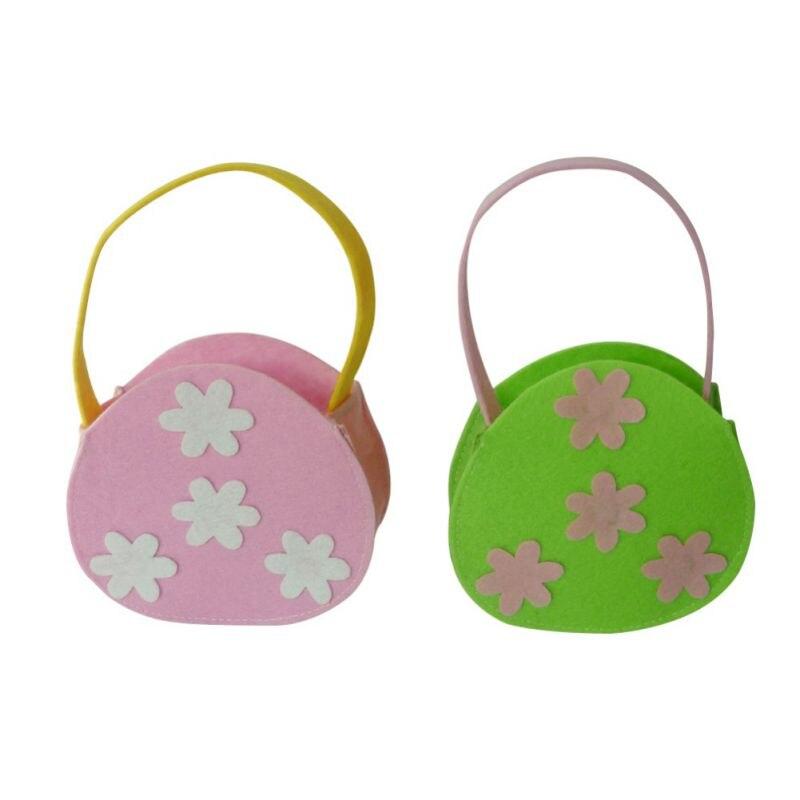 Easter Bunny Ear Bags Rabbit Candy Snack Bag Easter Baskets Kids Gifts Bag Festival DIY Craft Wedding Supplies Decoration