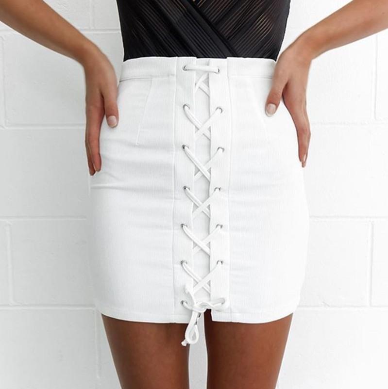 HTB1SrYjHFXXXXcDaXXXq6xXFXXXy - Lace up white skirt Summer PTC 294