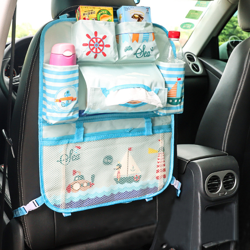 Fashion Cartoon Car Seat Back Organizer Bags Car-styling Multifunctional Stowing Tidying Interior Pouch Accessories Supplies