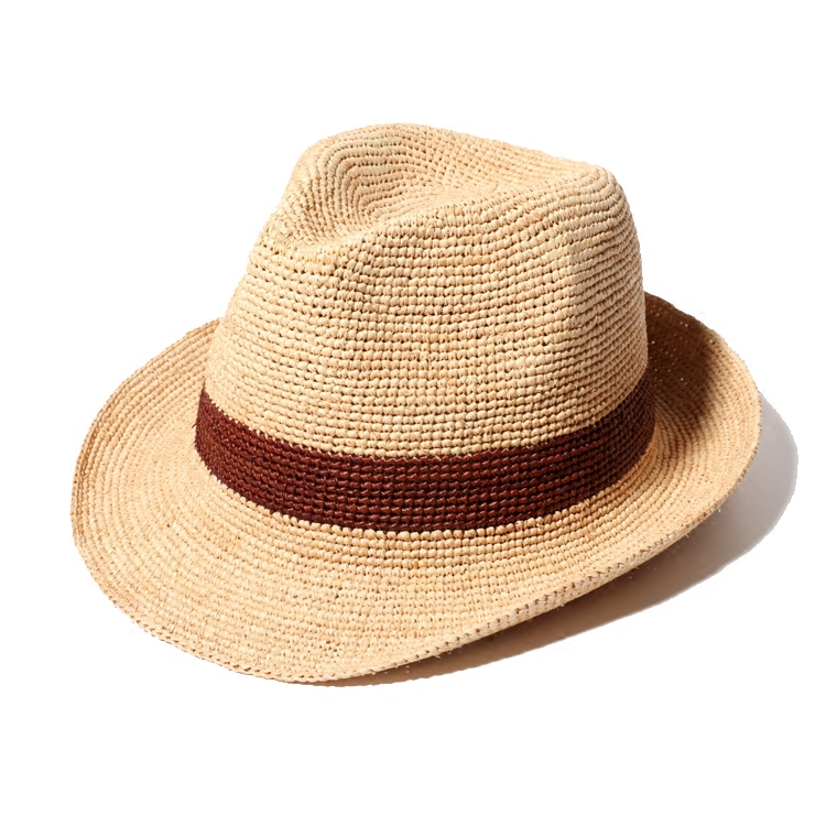 2017 Summer Mens Panama Hats Handmade Crochet Raffia ...