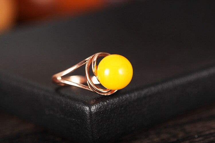 S925 чисто серебряное кольцо пустой держатель Fit бисера Янтарный круглый жемчуг розового Цвет кольцо женщин
